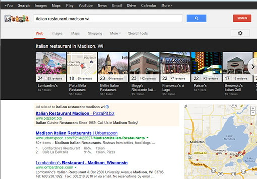how to see google search results for other locations