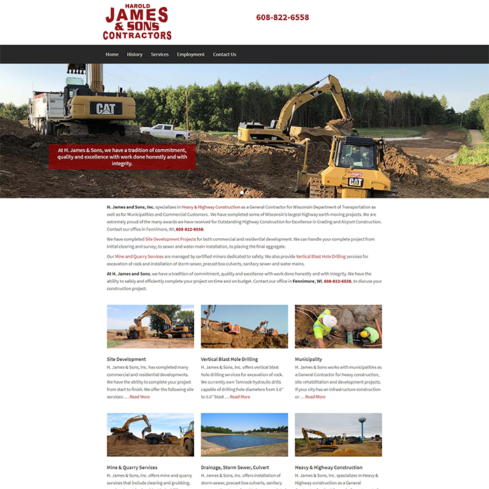 H. James & Sons, Inc.